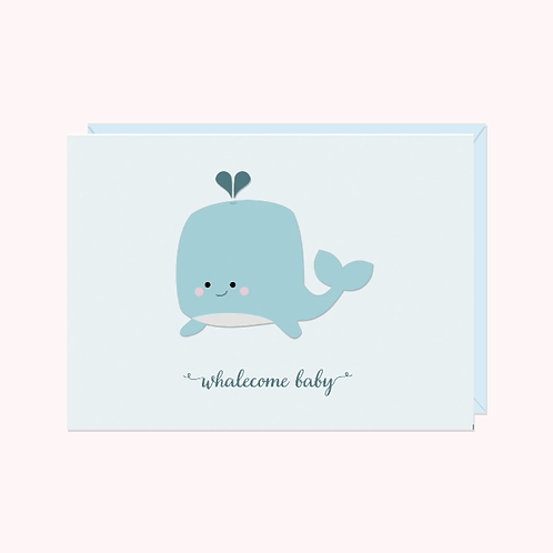 Whalecome Baby Card | Halifax Paper Hearts