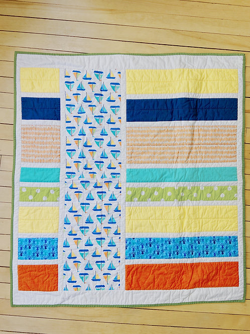Sailboat + Stripes | RoseBay Quilts
