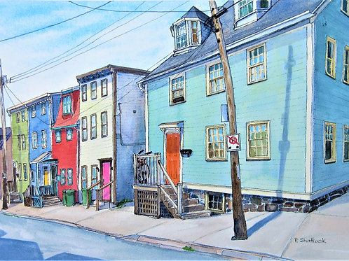 Looking Down Falkland Street - Original Painting   Pat Shattuck