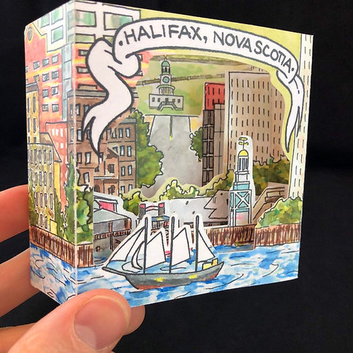 Halifax Waterfront Pop-Up Card | BardBardBard