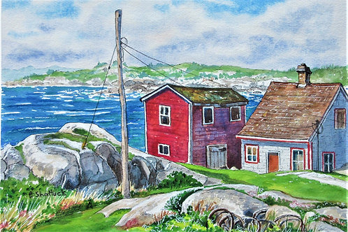 End of the Line Peggy's Cove- Original Painting | Pat Shattuck