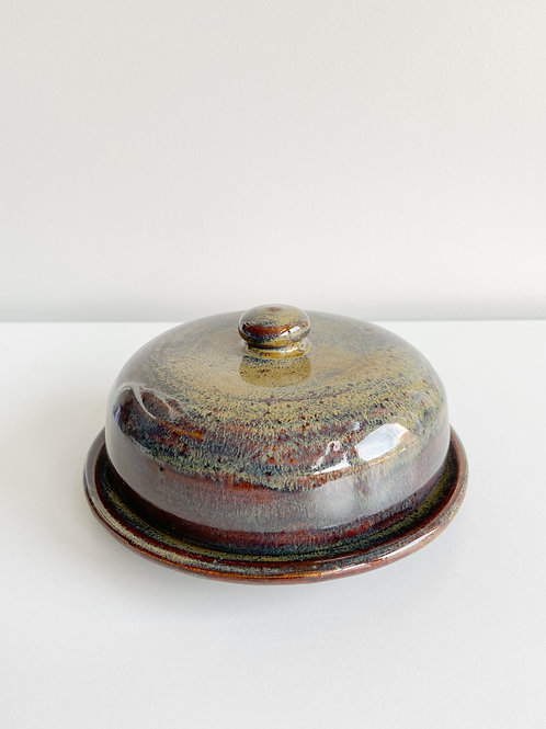 Northern Lights Butter Dish | Anderson Pottery