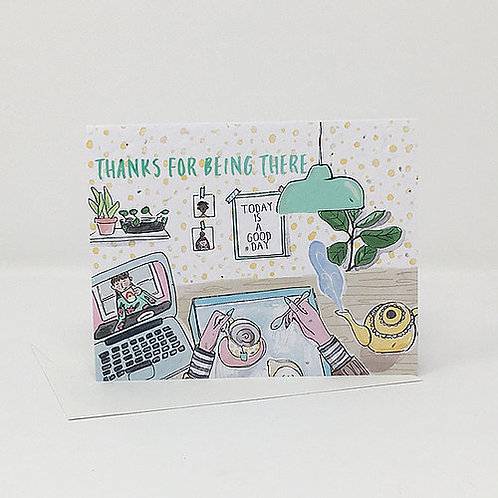 Thanks for Being There- Wildflower Seed Card | Jill + Jack Paper