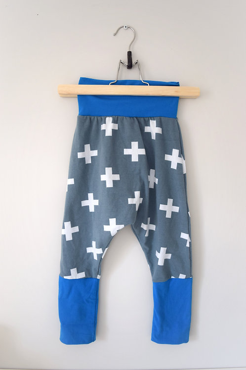 Grow-With-Me Pants | Grey Plus + Blue | Saelvage