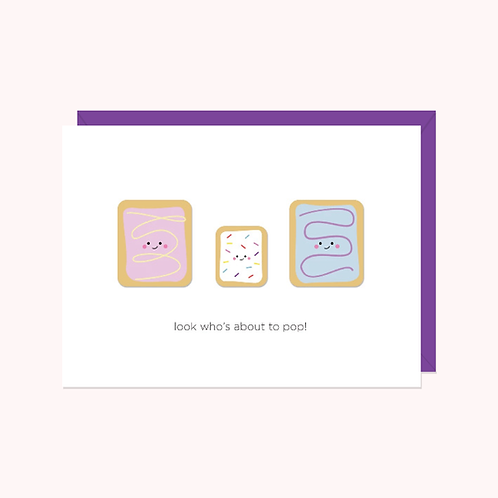 Look Who's About To Pop! Card | Halifax Paper Hearts