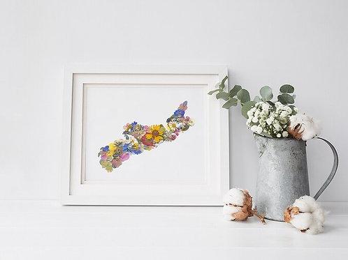 "Nova Scotia Flower Collage Print | 8"" x 10"" | Seek + Bloom"