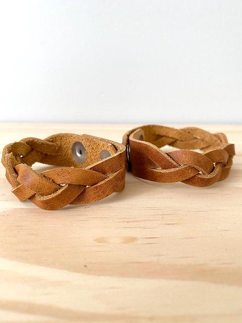 Tan Leather Braid Bracelet   Hammerthreads
