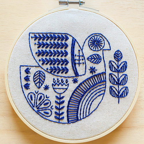 Hygge Dove Complete Embroidery Kit | Hook, Line + Tinker