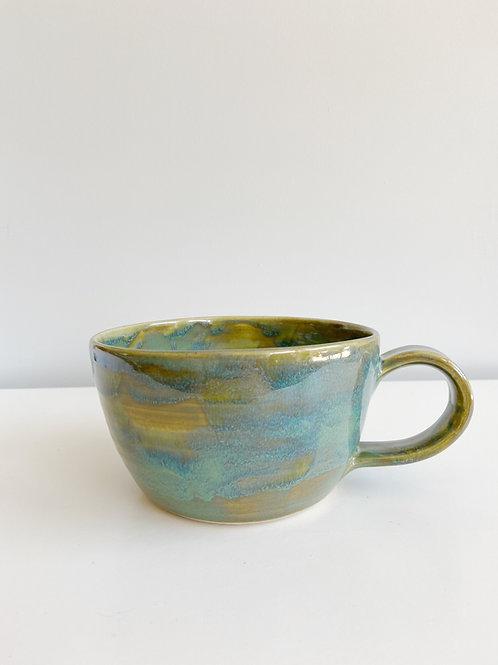 Fundy Spray Latte Mug | Anderson Pottery