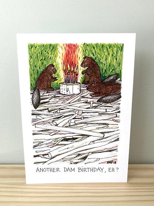 Another Dam Birthday Card | Helen Painter