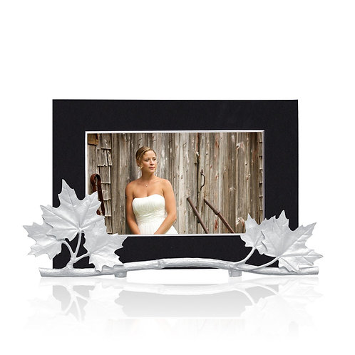 Maple Leaves Picture Holder | Amos Pewter