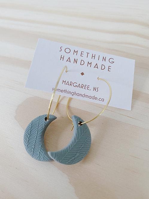 Sage Moon Hoop Earrings | Something Handmade
