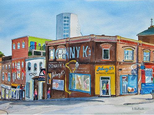Pizza Corner 1- Original Painting | Pat Shattuck