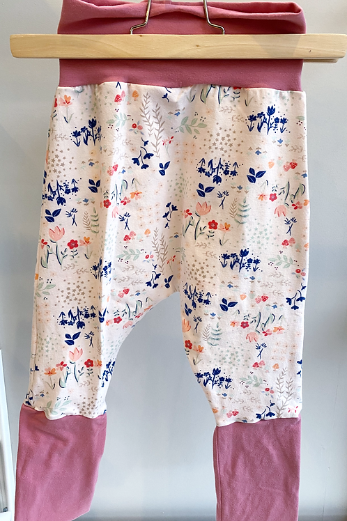 Grow-With-Me Pants | Meadow Pink Floral + Deep Rose | Saelvage