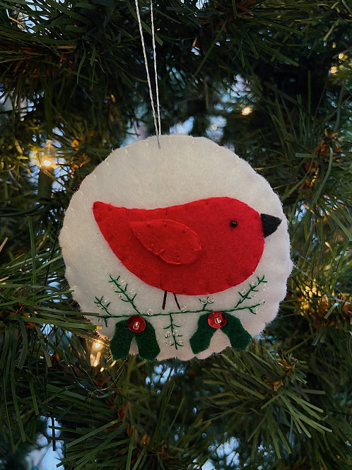 Red Bird Felt Ornament | Rosemary Taylor