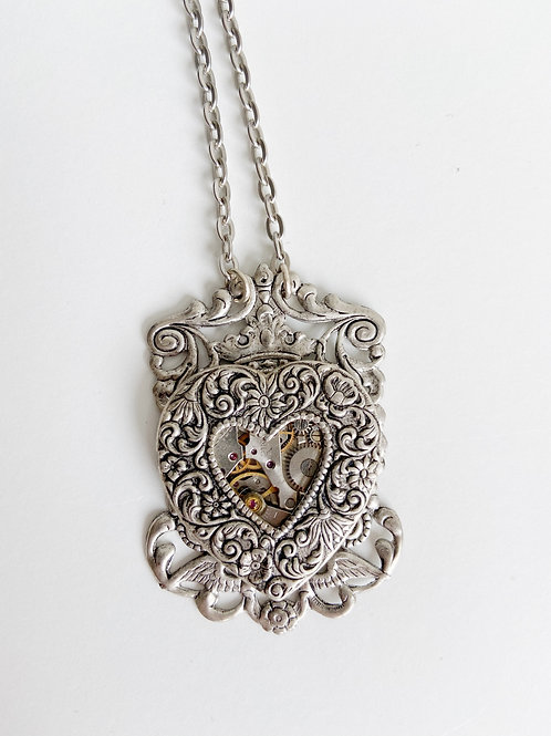 Winged Claddagh Necklace | Arcane Angel