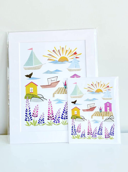 Lupins by the Sea | Cards by Kate