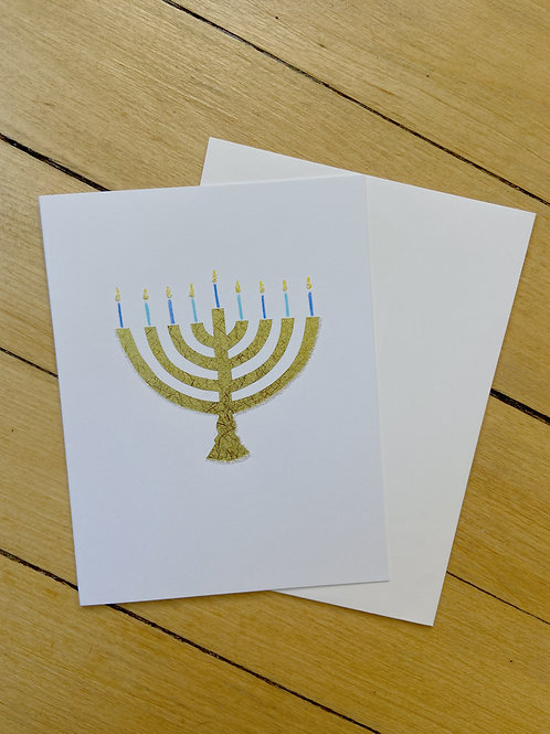 Menorah Paper Collage Card | Cards by Kate