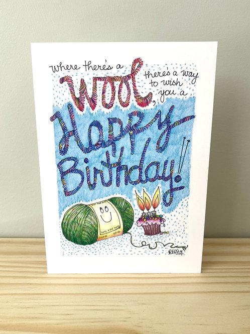 Wool Happy Birthday Card | Helen Painter