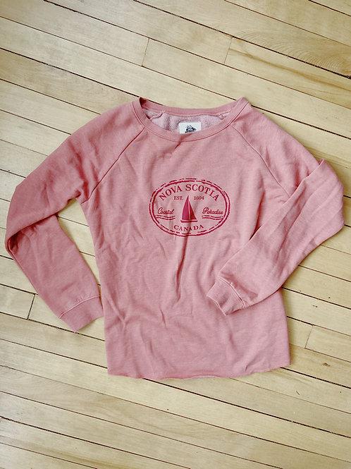 Ladies Nova Scotia Rose Sweatshirt   Tall Ships Trading Co.