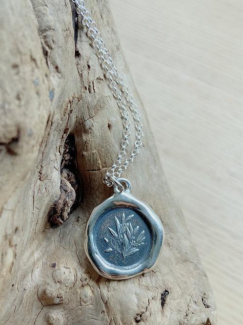 Laurel Silver Necklace   Glory + Achievement   Plum + Posey