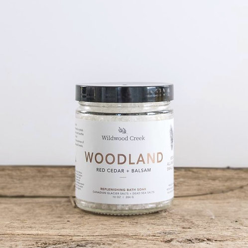 Woodland Botanical Bath Salt Soak   10oz   Wildwood Creek