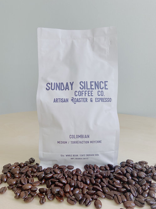 Colombian Medium Roast Coffee | Sunday Silence Coffee Co.
