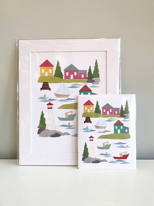 Seaside Village | Cards by Kate