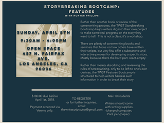 STORYBREAKING BOOTCAMP: FEATURES