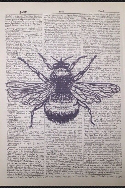 Vintage Bumble Bee Print