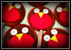Gingerbread Robin Lollies