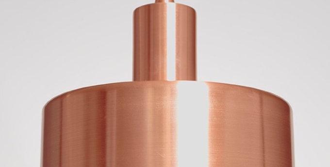 Colgante diseño cilindrico cobre