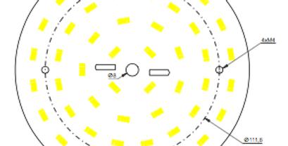 placa de led redonda