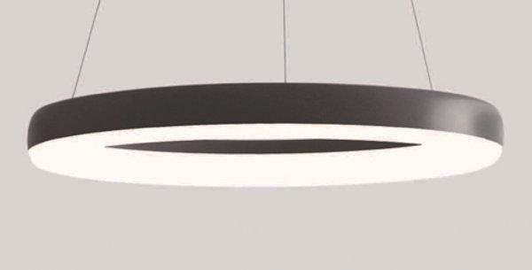 colgante aro luminoso led color negro