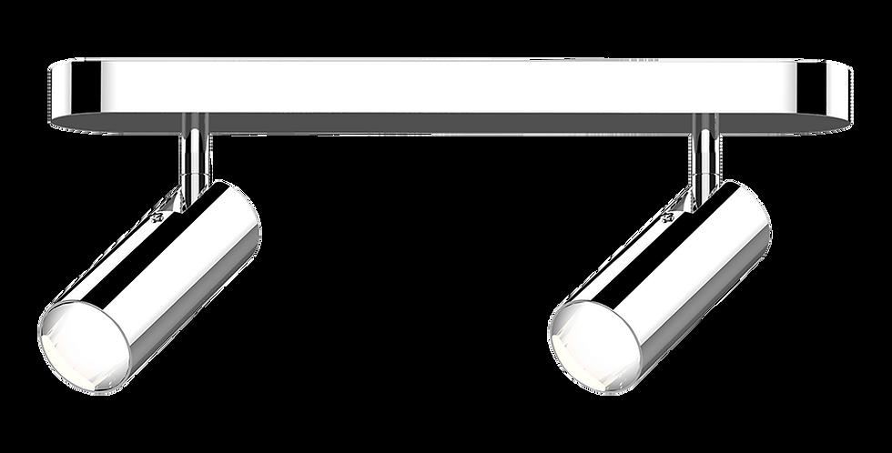 aplique 2 luces led orientables cromado