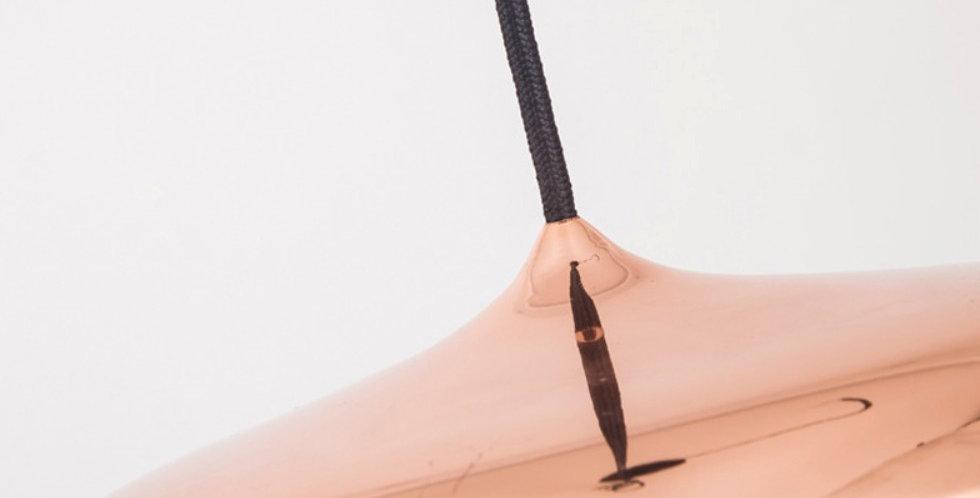 Colgante led chato color cobre
