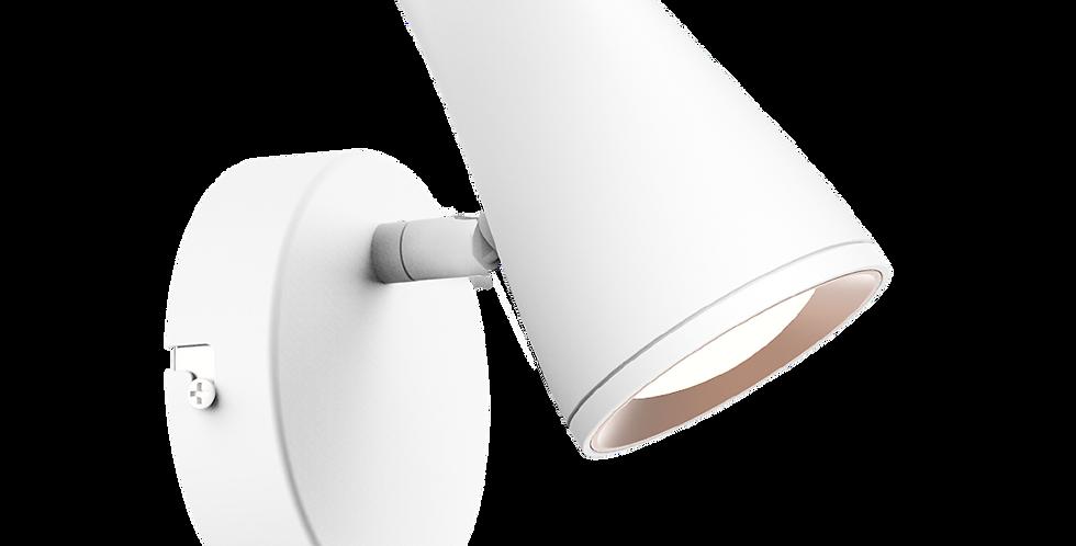 Aplique base y cabezal led orientable blanco