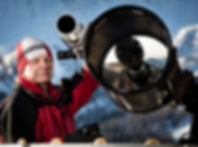 Vaclav Ourednik mit Kursteleskop