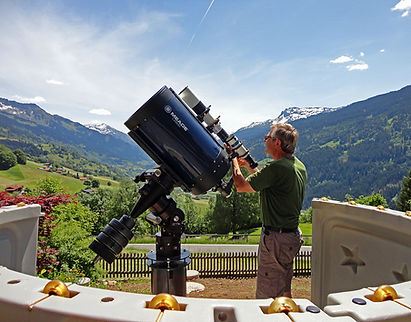Teleskop Meade 14-Zoll ACF mit Vaclav Ourednik im Prättigau