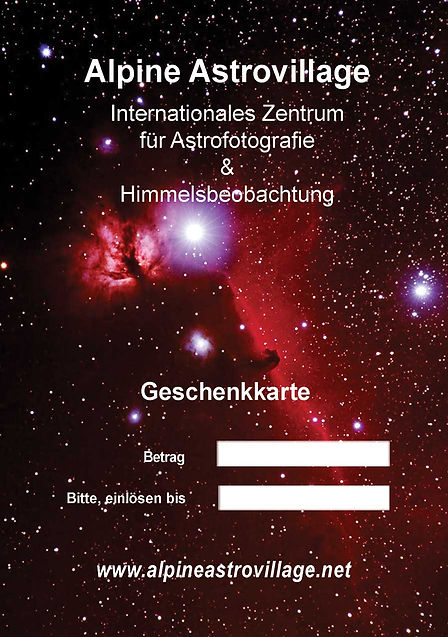 Alpine Astrovillage - gift card