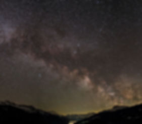 sse über dem Prättigau, Milky way over the Prättigau valley, Foto: V. Ourednik, 2018