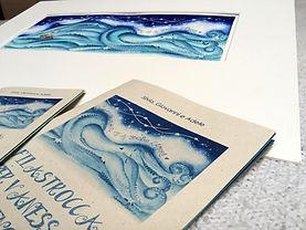 Dipinto di Sandra Stranieri e libri personalizzati con filastrocca personalizzata
