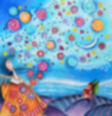 Dipinto di Sandra Stranieri, 2015. Acquerello e tecniche mista su carta