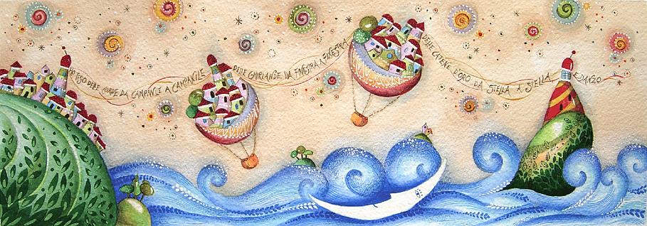 Dipinto di Sandra Stranieri, 2013.Acquerello, pastelli, tempera su carta