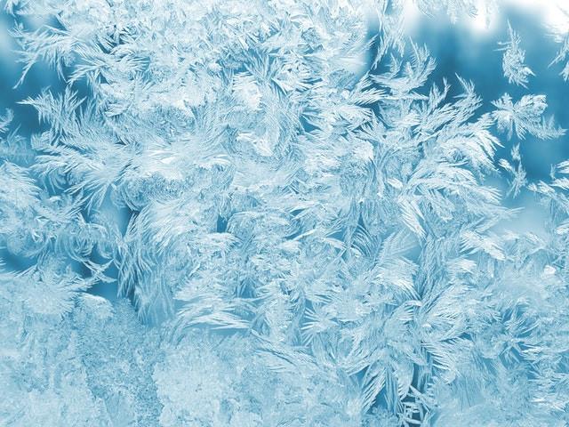 Dettaglio di fiocchi di neve