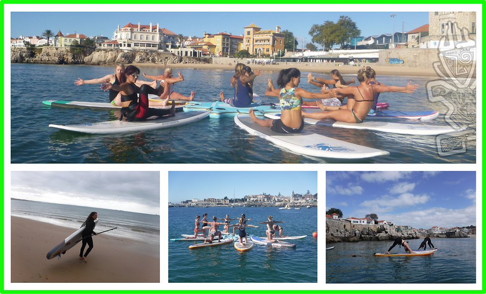 Beyond Boards SUP-yoga in the Cascais Bay