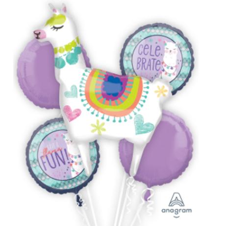 Llama Fun Jumbo Balloon Bouquet