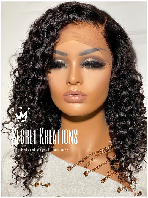 """""""SIA"""" Wavy Curl Custom Hairline 13X6 Lace Front Wig"""