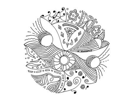 Création de mandalas intuitifs Mercredi 28 octobre 2020 (vacances Toussaint)14h00 à 15h30