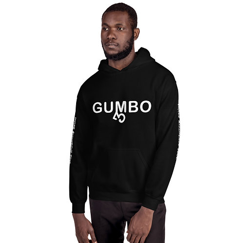 Gumbo Hoodie with sleeve txt &bck plate